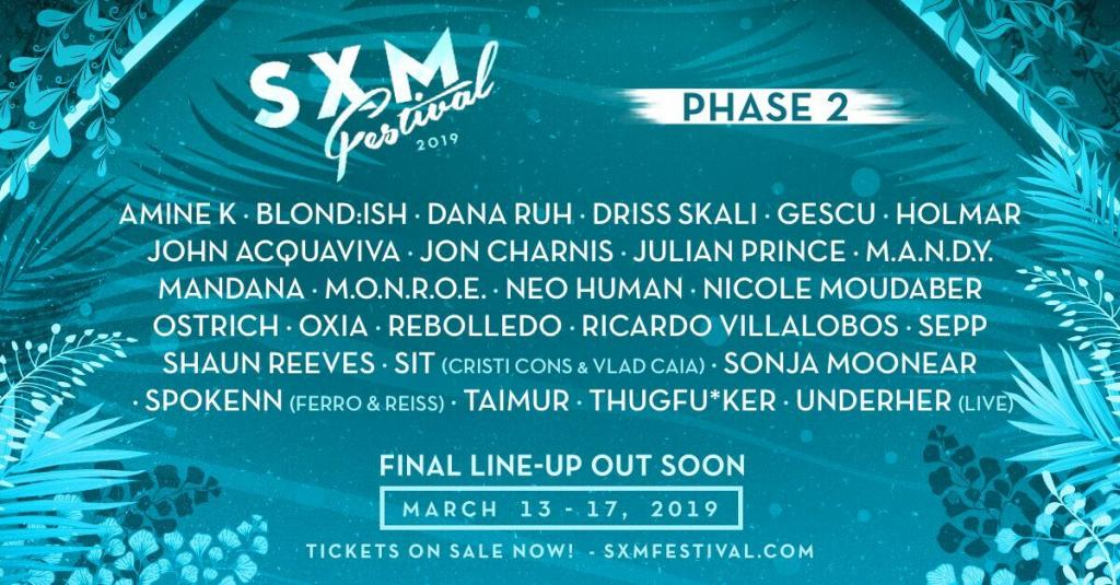 SXM Festival Announces their second round of acts