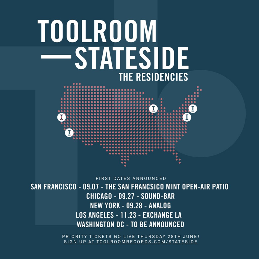 Toolroom Stateside in the US for its fall tour!!