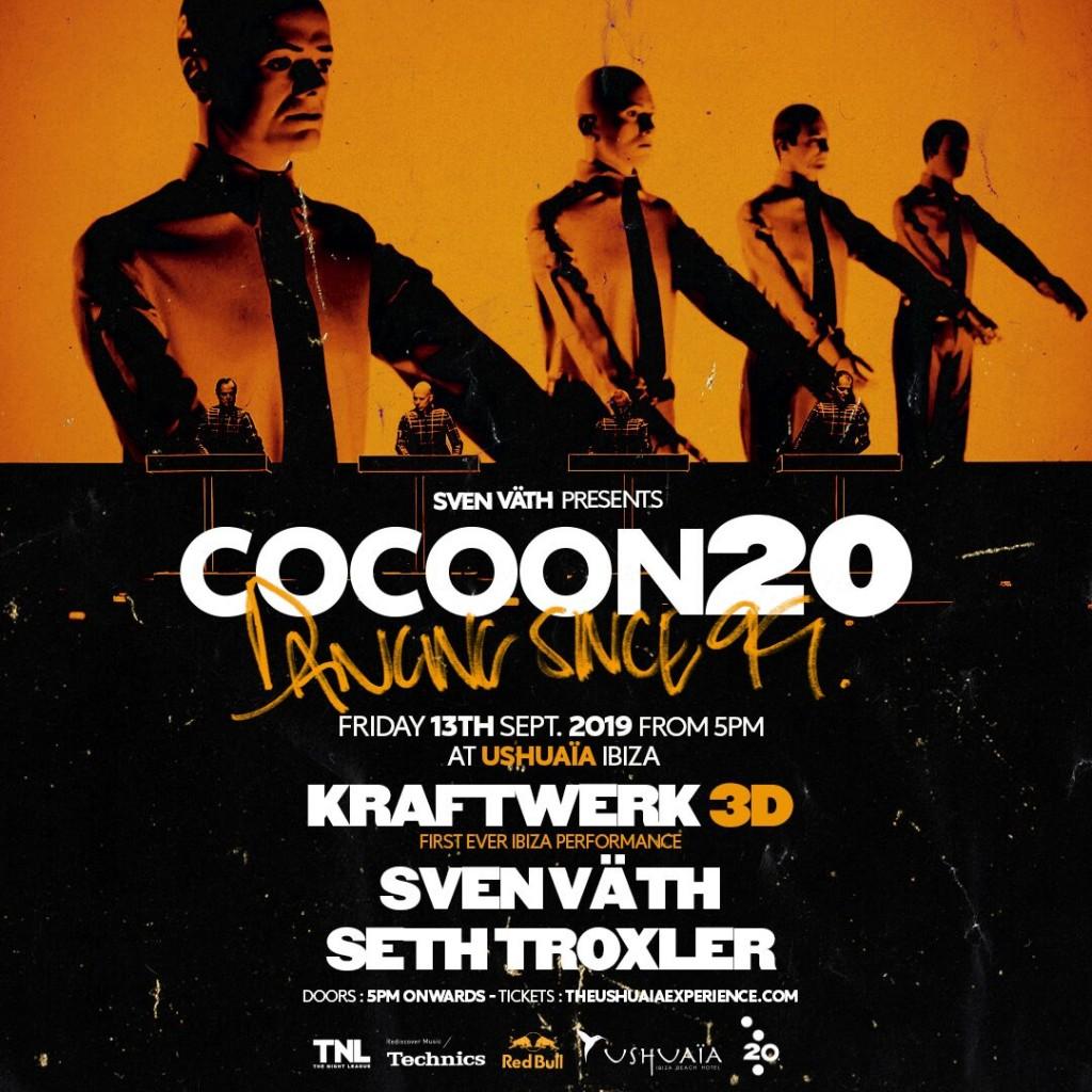 Kraftwerk 3D Show as the final act to COCOON20 at Ushuaïa Ibiza!