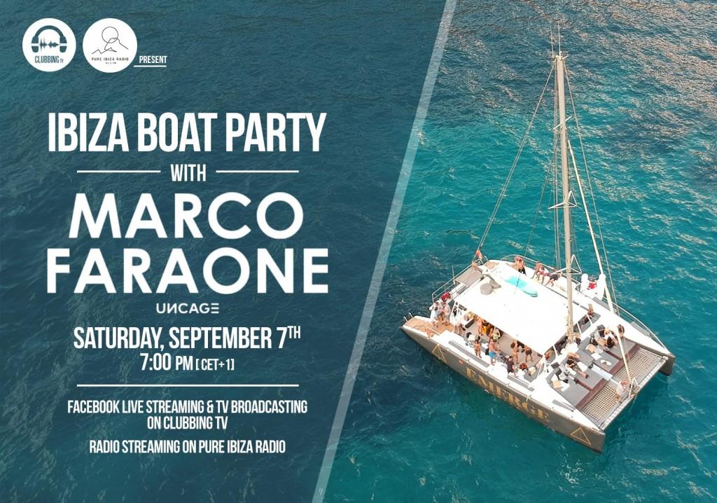 Live from Marco Faraone's Ibiza Boat Party