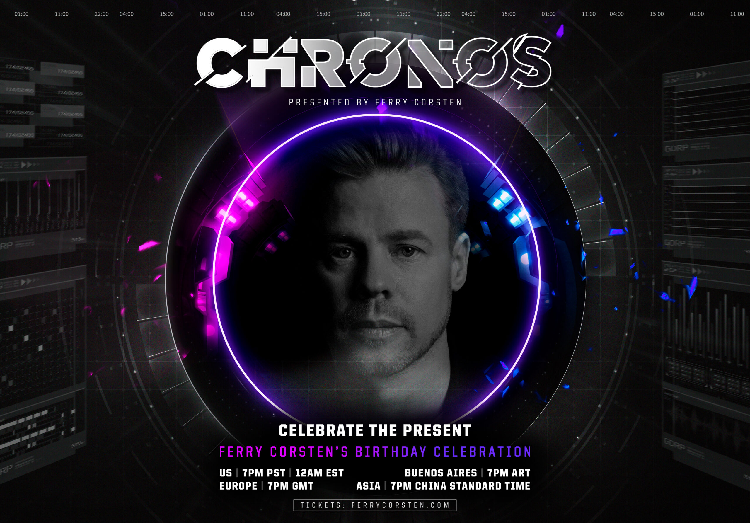 Ferry Corsten is celebrating his birthday with you, during CHRONOS 2nd stream!