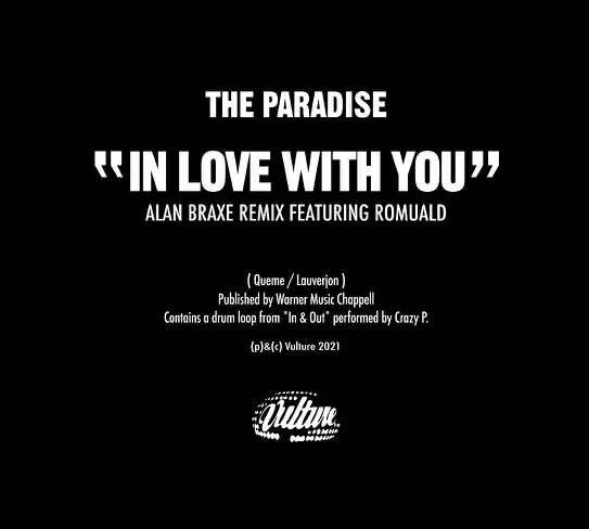 Alan Braxe releases anticipated remix of The Paradise's 2003 classic!