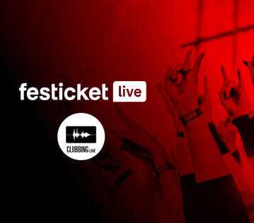 Festicket Live partners with us on our streaming platform: Clubbing.live!