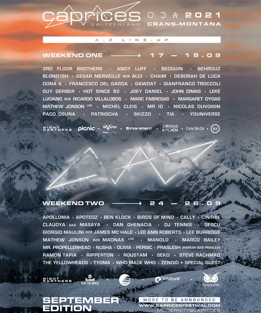 The iconic mountain Caprices Festival is back to Switzerland !