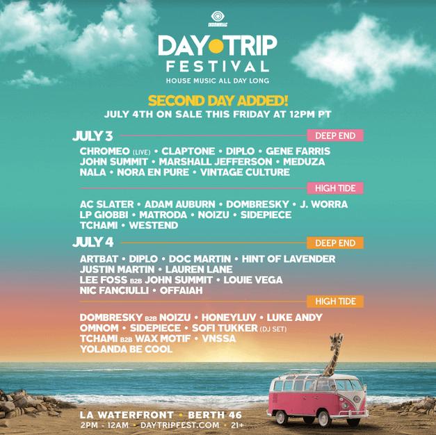 Insomniac's Day Trip festival has some news!