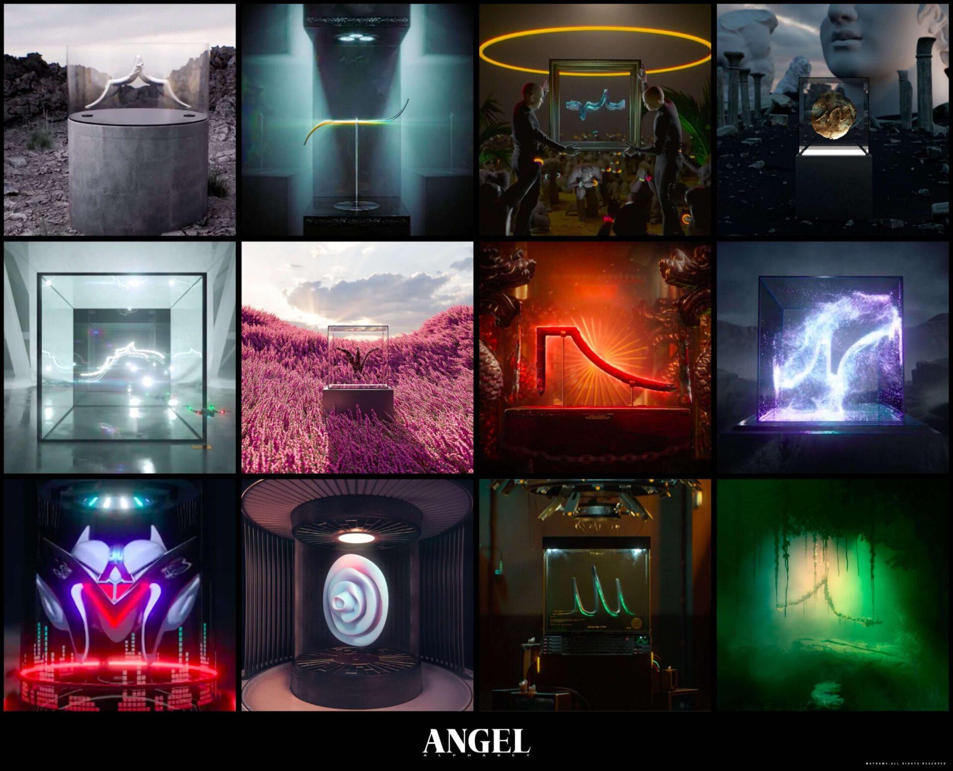 Mathame unveil a debut NFT collection: Angel Alphabet !