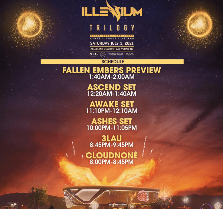 ILLENIUM announced the live stream of 'Trilogy' from Vegas!