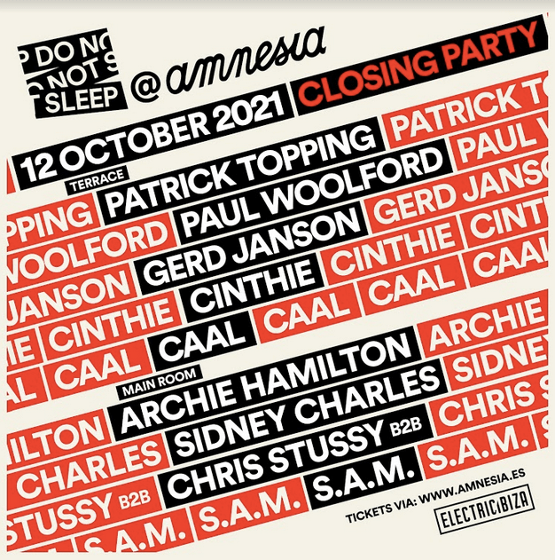 Do Not Sleep is back to Amnesia Ibiza!