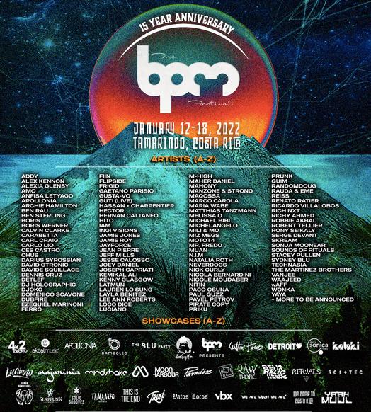 BPM Festival 15th anniversary edition… in Costa Rica !