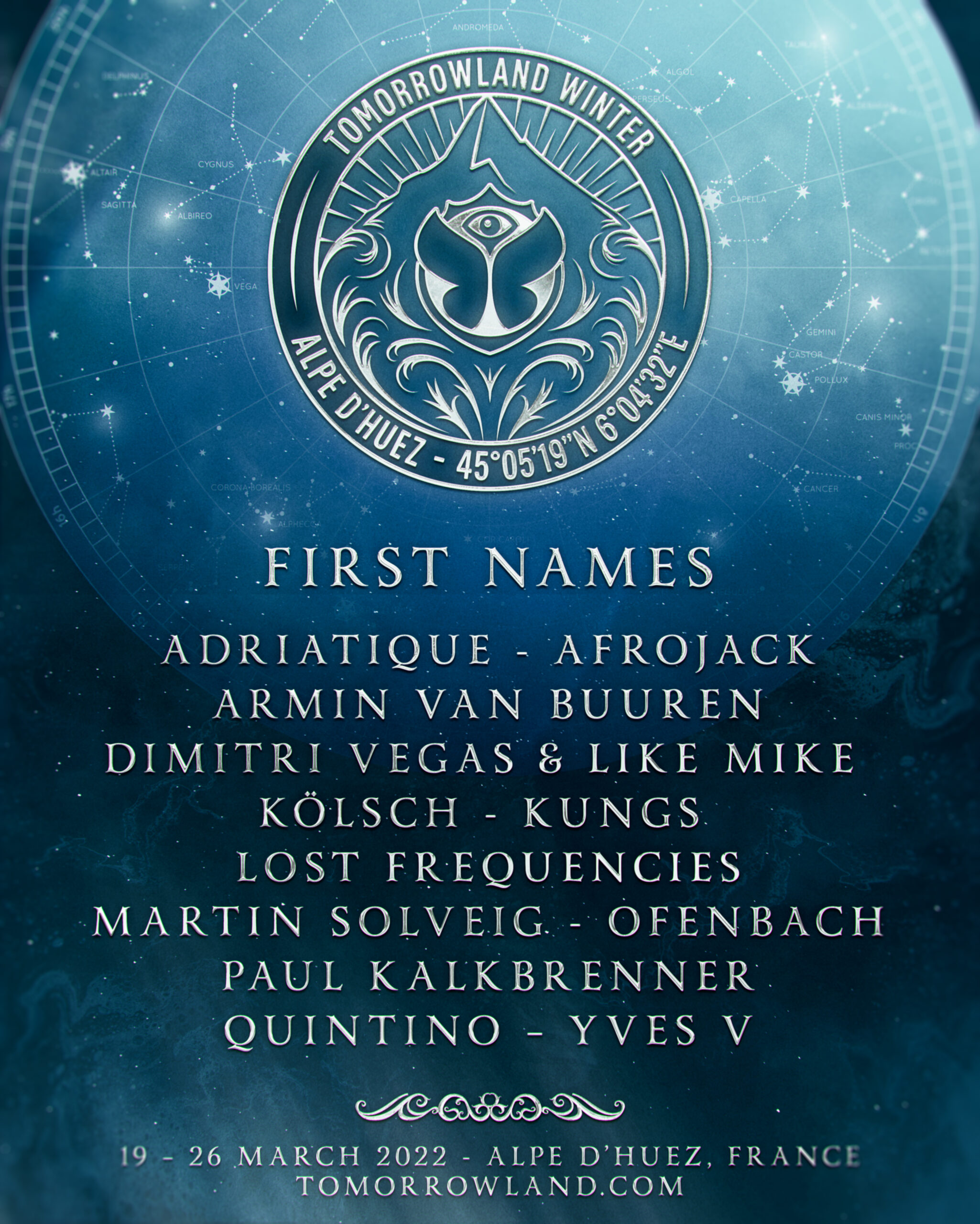 Tomorrowland Winter unveils the first names !