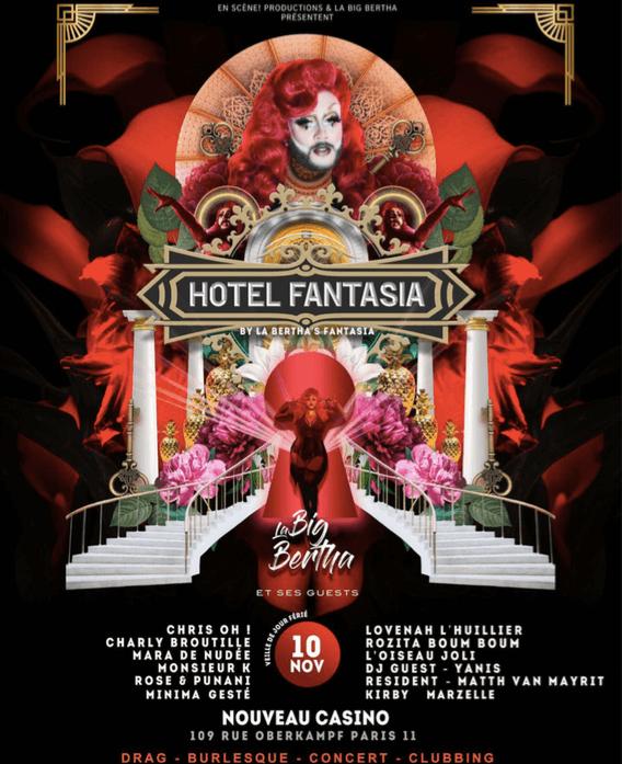 La Big Bertha invites you to Hotel Fantasia!